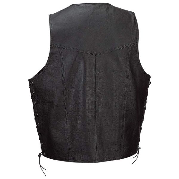 Diamond Plate™ Solid Genuine Leather Vest X-Large - Click Image to Close