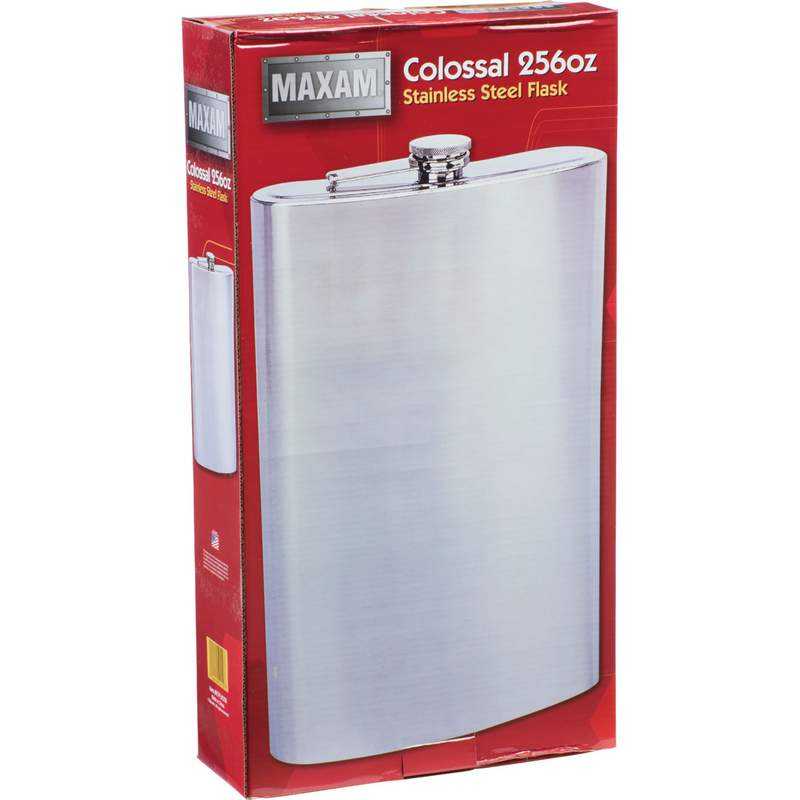 Maxam® Colossal 2 Gallon Stainless Steel Flask - Click Image to Close