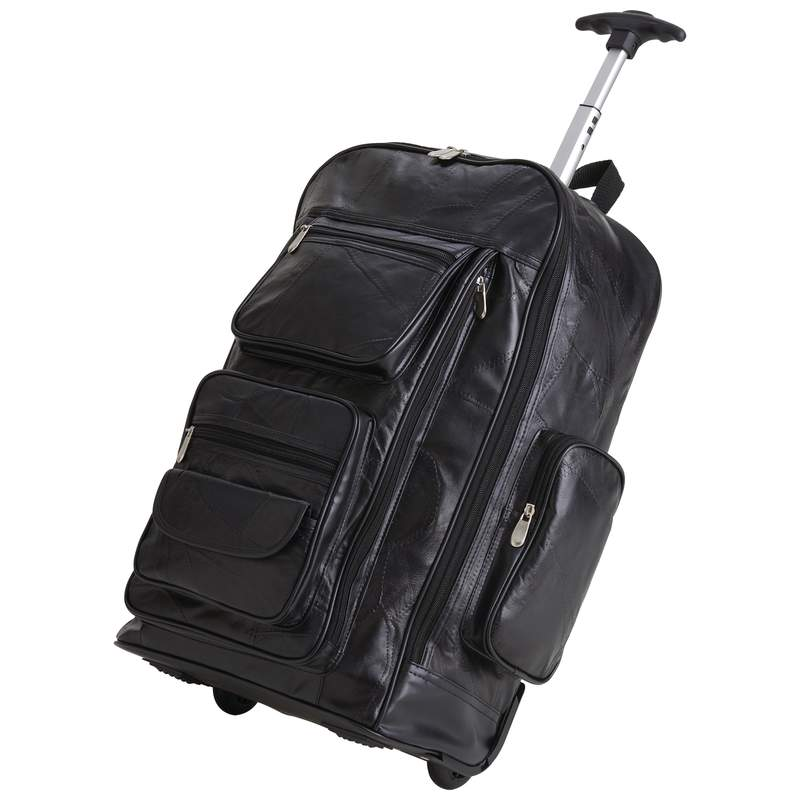 Embassy™ Italian Stone™ Design Genuine Leather Trolley/Backpack - Click Image to Close
